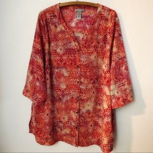 Catherine's Button Down Blouse Women's 2X